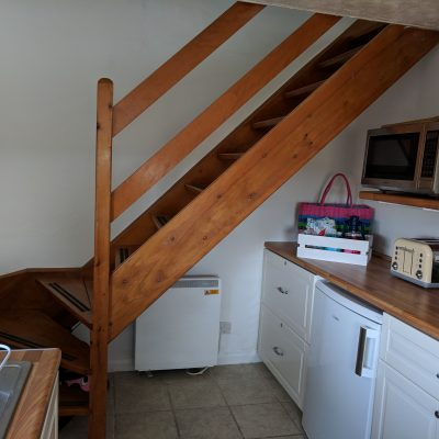 Staircase in the kitchen